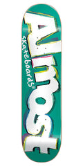 Almost Neo Expressionalism Skateboard Deck - Teal - 8.0