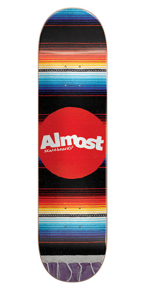 Almost Mexican Blanket R7 Skateboard Deck - Multi - 8.0