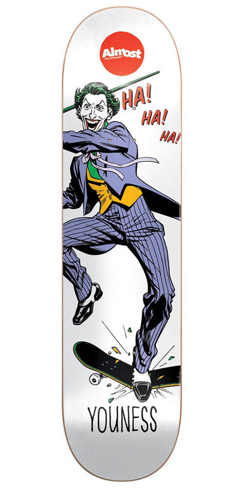 Almost Youness Amrani Joker Focus R7 Skateboard Deck - White - 8.25