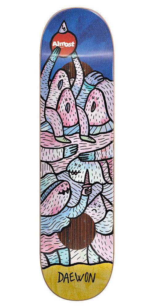 Almost Daewon Song Lucas Beaufort Impact Plus Skateboard Deck - Multi - 8.0in