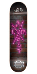 Almost Chris Haslam X-Neon R7 Skateboard Deck - Black/Pink - 8.0in