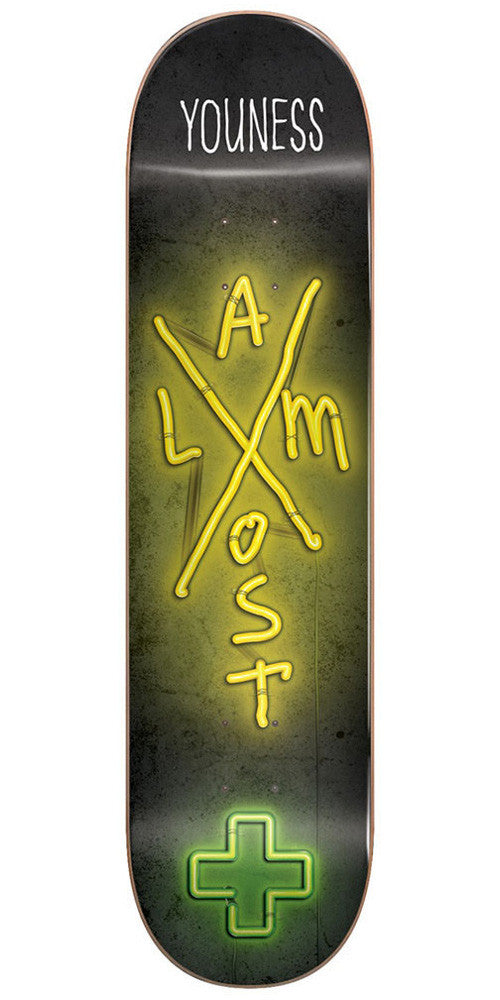 Almost Youness Amrani X-Neon R7 Skateboard Deck - Black/Yellow - 7.75in