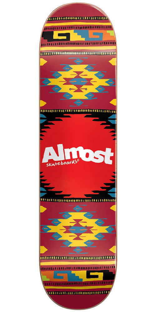Almost Aztek PP Skateboard Deck - Lava - 7.75in