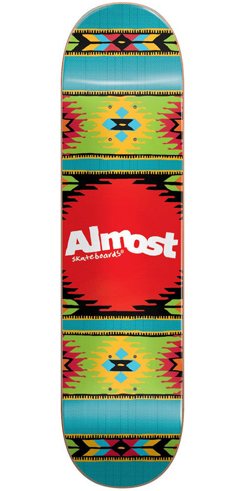 Almost Aztek PP Skateboard Deck - Ocean - 8.0in