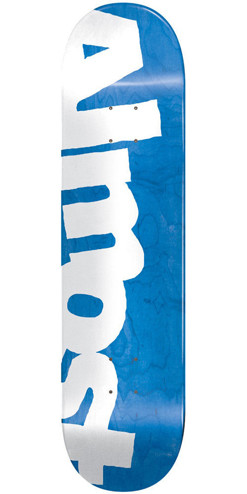 Almost Side Pipe PP Skateboard Deck - Blue - 8.5in