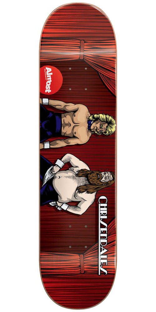 Almost Haslam Chrisendales IL Skateboard Deck - Red - 8.5in