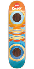 Almost Cooper Wilt Lotti Painted Rings Impact Skateboard Deck - Orange/Blue - 8.25in
