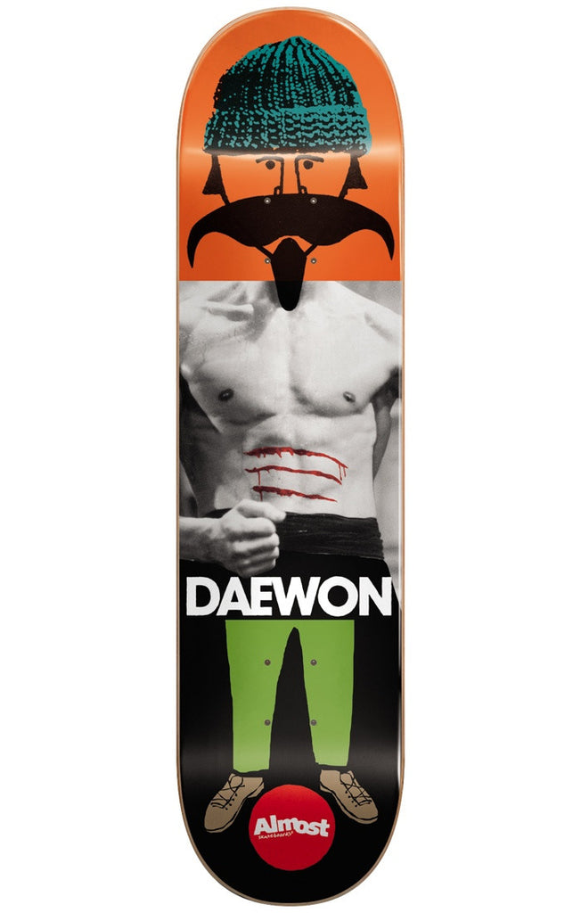 Almost Daewon Song Remix Dude IL Skateboard Deck - Multi - 8.25in