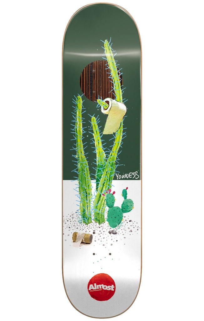 Almost Youness Amrani Junk On My Prick IP Skateboard Deck - Green/White - 8.25in