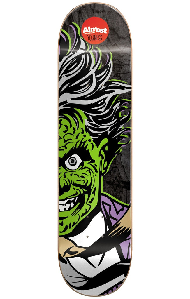 Almost Youness Amrani Two-Face Split Face R7 Skateboard Deck - Black - 8.0in