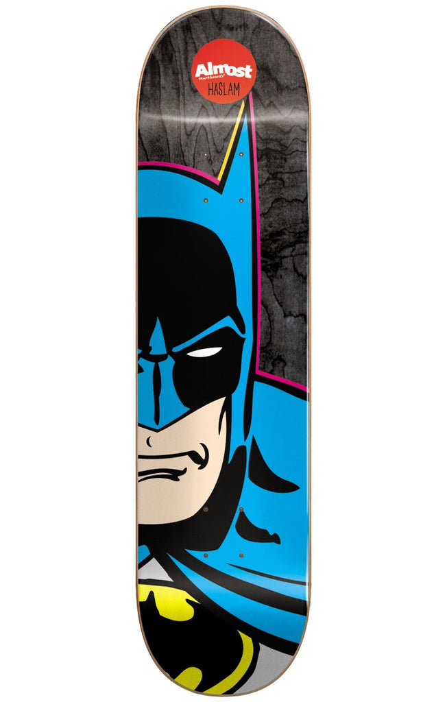 Almost Chris Haslam Batman Split Face R7 Skateboard Deck - Black - 8.375in