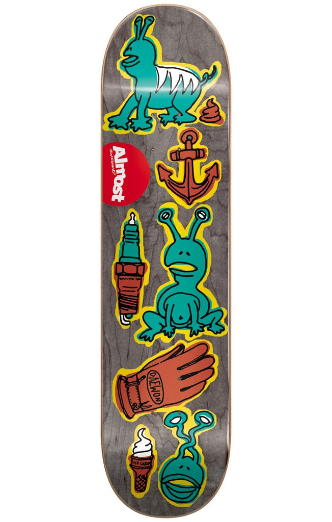 Almost Daewon Song Dumb Doodle R7 Skateboard Deck - Black - 7.75in