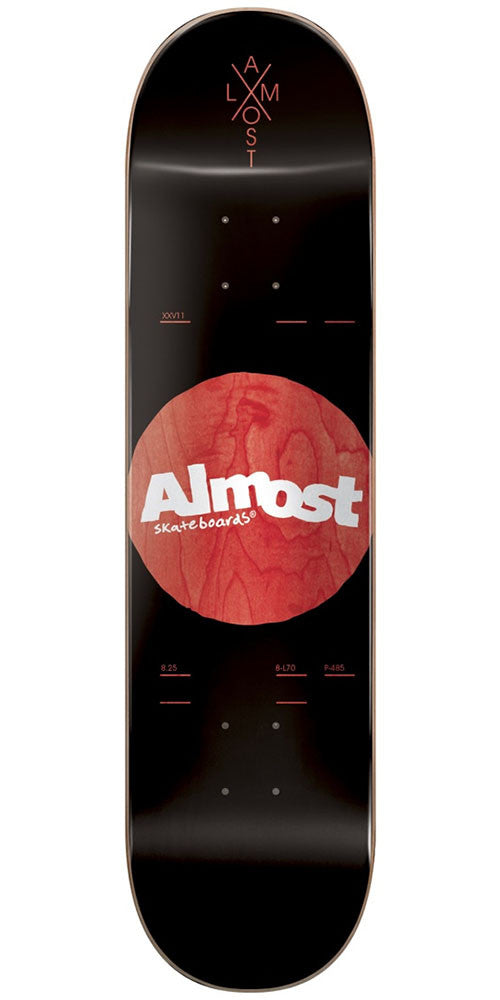 Almost Noble Dot R7 Skateboard Deck - Black - 8.25in