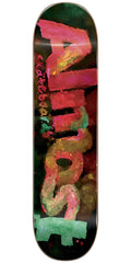 Almost Blotchy Logo HYB Skateboard Deck - Black - 8.0in