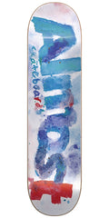 Almost Blotchy Logo HYB Skateboard Deck - White - 7.5in