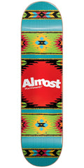 Almost Aztek HYB Skateboard Deck - Ocean - 8.0in