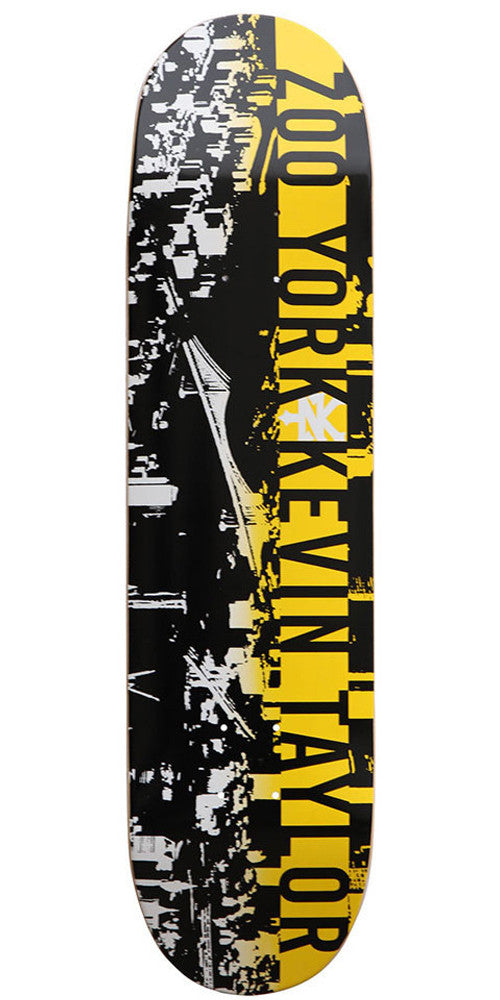 Zoo York Taylor Spray Fade Skateboard Deck - Black - 8.0