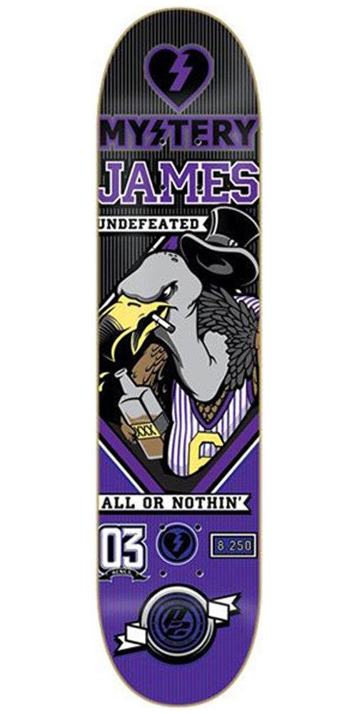 Mystery James Undefeated Skateboard Deck 8.25 - Purple