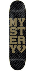BLEMISHED Mystery Varsity Skateboard Deck - Black/Gold - 8.375in