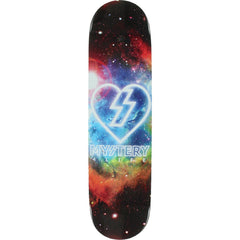 Mystery Cosmic Heart Skateboard Deck - Black - 8.5in