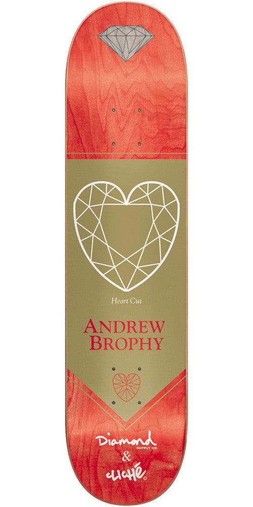 Cliche Diamond Pro R7 Andrew Brophy Skateboard Deck 8.4