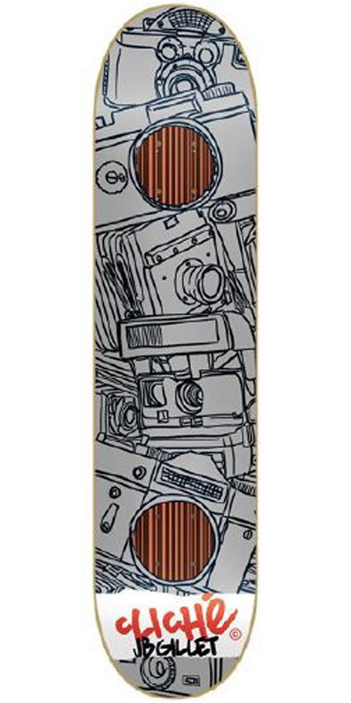 Cliche Sketches Impact Gillet Skateboard Deck 8.2 - Grey/Black