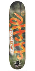 Cliche Acid Wash R7 Collet Skateboard Deck 8.1 - Green/Orange