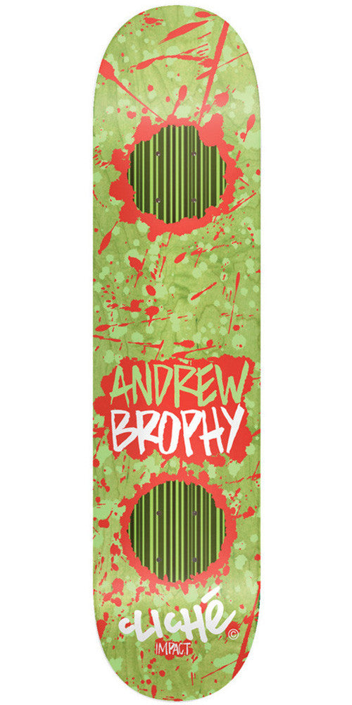Cliche Drippin Impact Andrew Brophy Skateboard Deck 8.25 - Green/Red