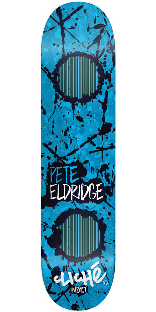 Cliche Drippin Impact Pete Eldridge Skateboard Deck 8.0 - Blue/Black