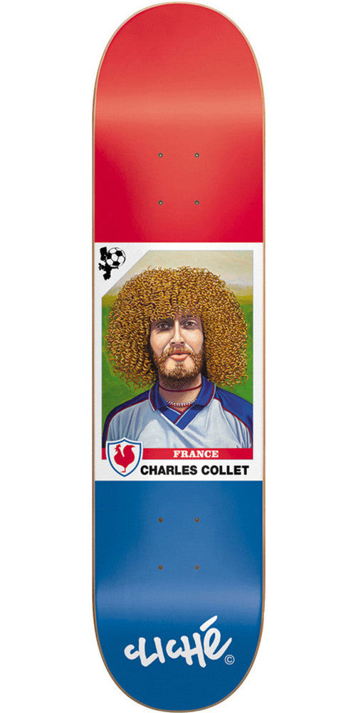 Cliche Hair Cup R7 Collet Skateboard Deck 8.0 - Blue/Red