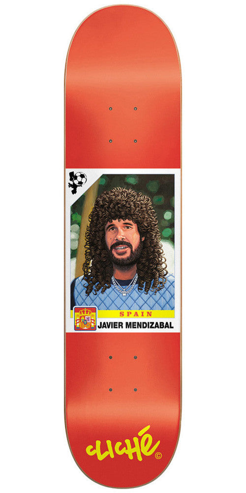 Cliche Hair Cup R7 Mendizabal Skateboard Deck 8.4 - Orange