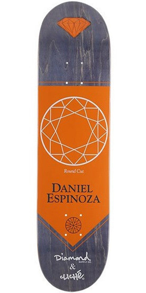 Cliche Espinoza Diamond Pro R7 Skateboard Deck - Orange - 7.9