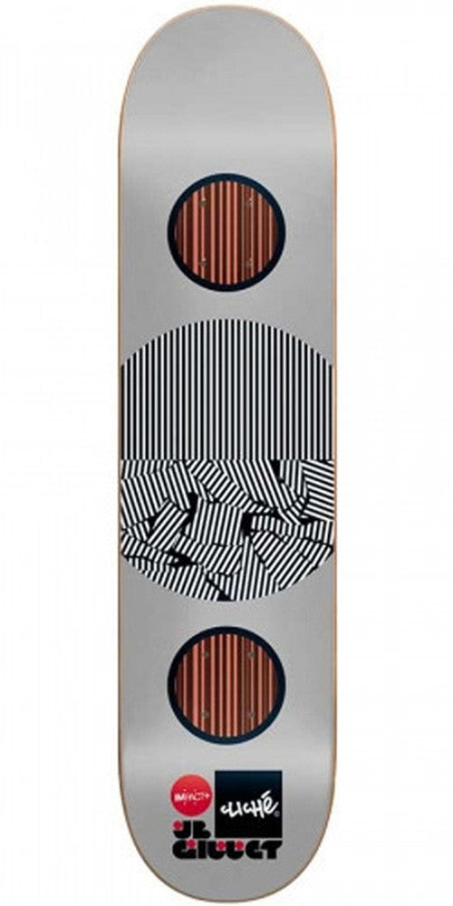 Cliche JB Gillet Linear Series Impact Plus Skateboard Deck - Silver - 8.0