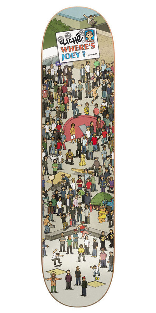 Cliche Joey Brezinski Where Is Series R7 Skateboard Deck - Grey - 8.1
