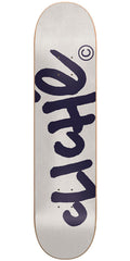 Cliche Handwritten Classic Skateboard Deck - 8.25 - Light Grey/Navy
