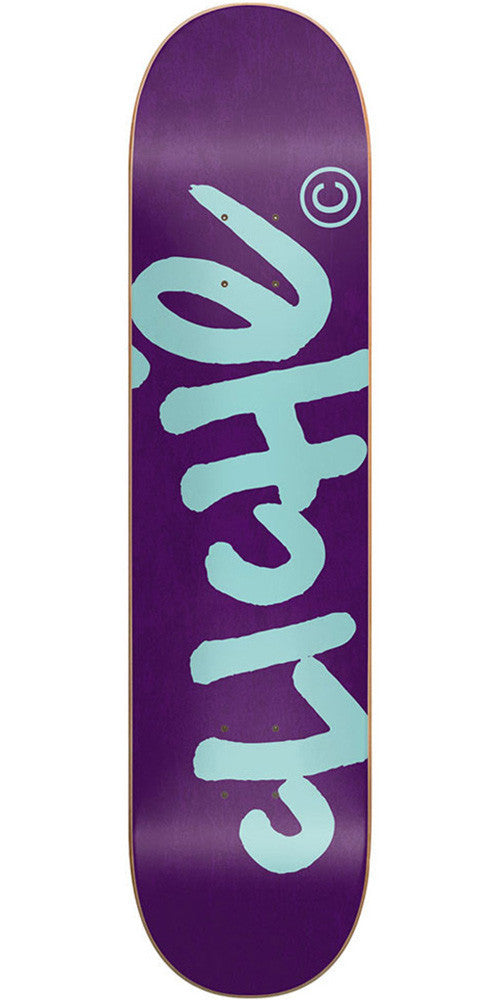 Cliche Handwritten Classic Skateboard Deck - 7.75 - Purple/Teal