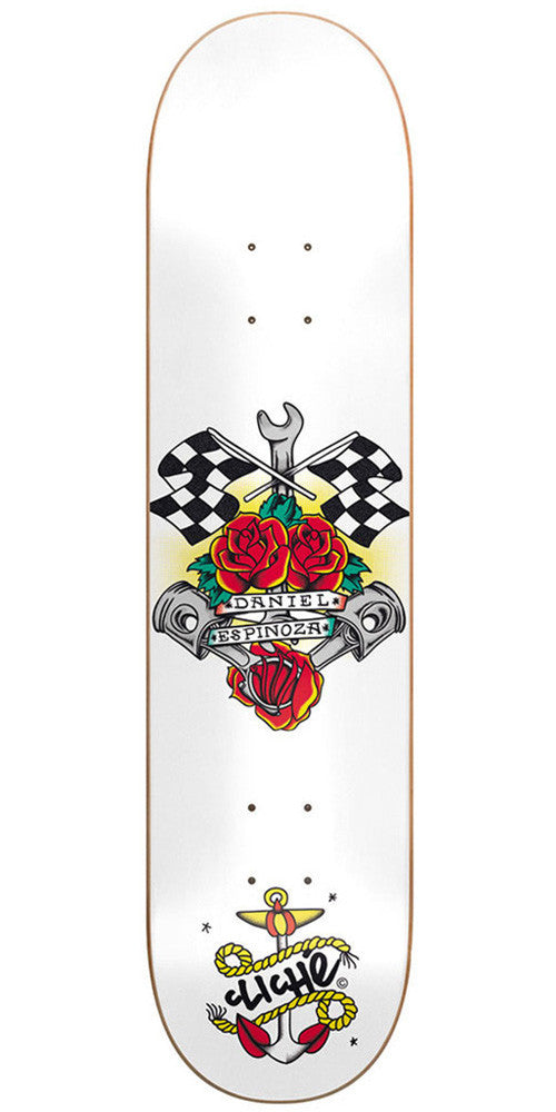 Cliche Daniel Espinoza Sailor Tattoo R7 Skateboard Deck - 7.75 - White