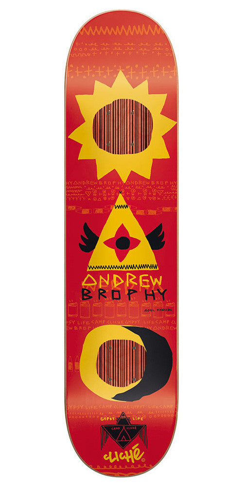 Cliche Andrew Brophy Gypsy Life Impact Skateboard Deck - 8.25 - Red