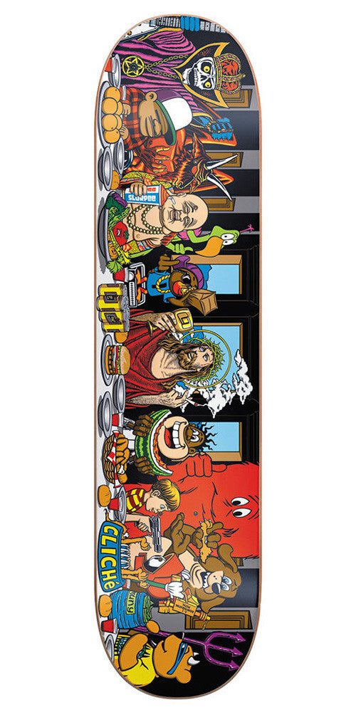 Cliche Last Supper R7 Skateboard Deck - 8.0 - Multi