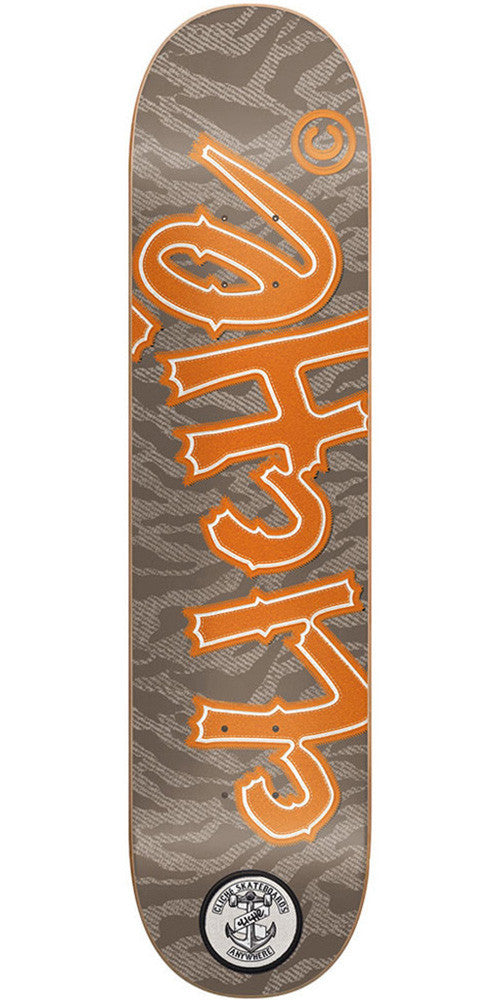 Cliche Handwritten Camo Patch Skateboard Deck - 8.38 - Camo