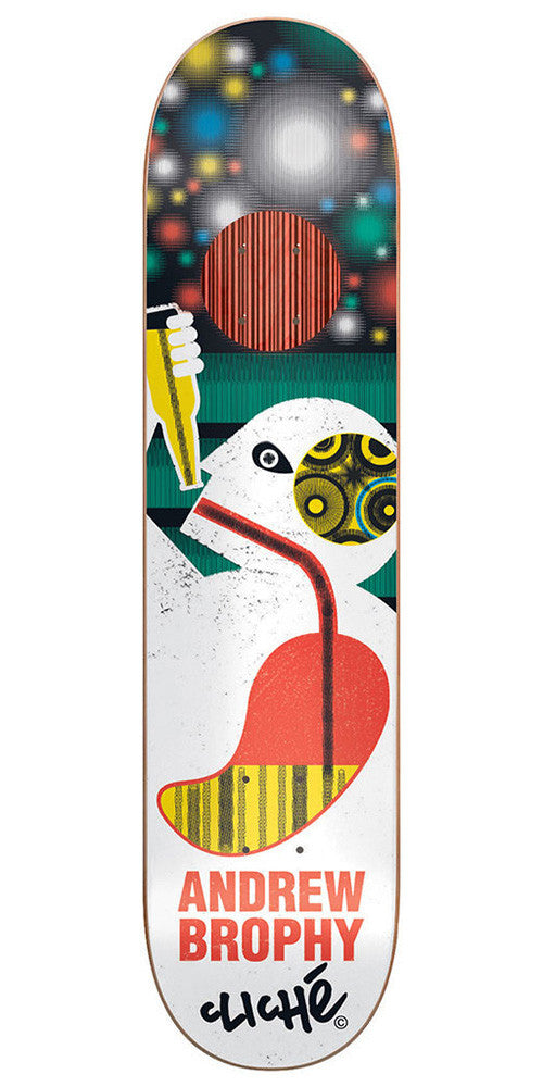 Cliche Andrew Brophy Motion Series Impact Plus Skateboard Deck - Multi - 8.25