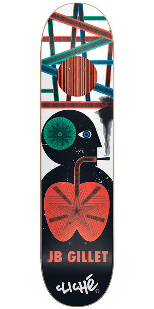 Cliche JB Gillet Motion Series Impact Plus Skateboard Deck - Multi - 8.1