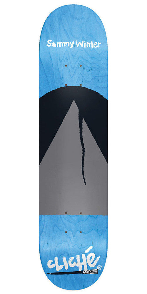 Cliche Sammy Winter Painter Series R7 Skateboard Deck - Blue - 8.375