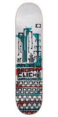 Cliche Andrew Brophy Grip Art Series R7 Skateboard Deck - White - 8.5