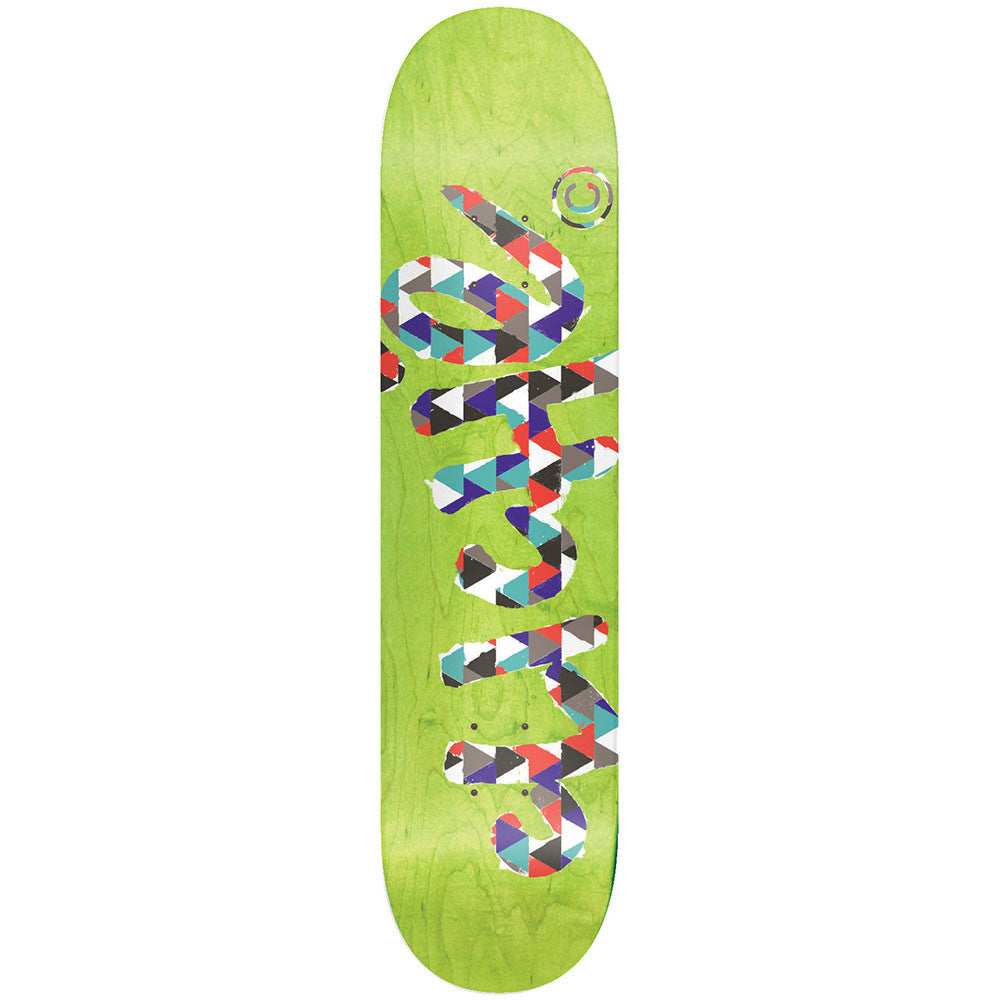 Cliche Handwritten Painter R7 Skateboard Deck - Green - 8.1