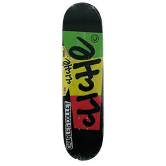 Cliche Flag R7 Charles Collet Skateboard Deck - Black/Rasta - 8.0in