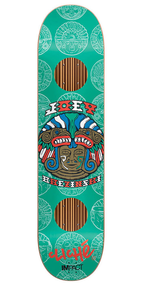 Cliche Joey Brezinski Mask Series Impact Skateboard Deck - Teal - 8.0in