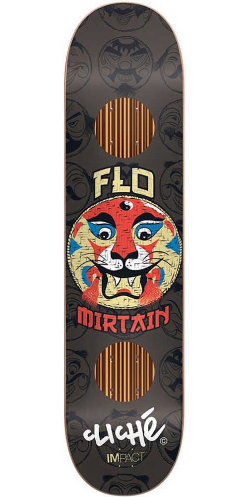 Cliche Flo Mirtain Mask Series Impact Skateboard Deck - Black - 7.75in