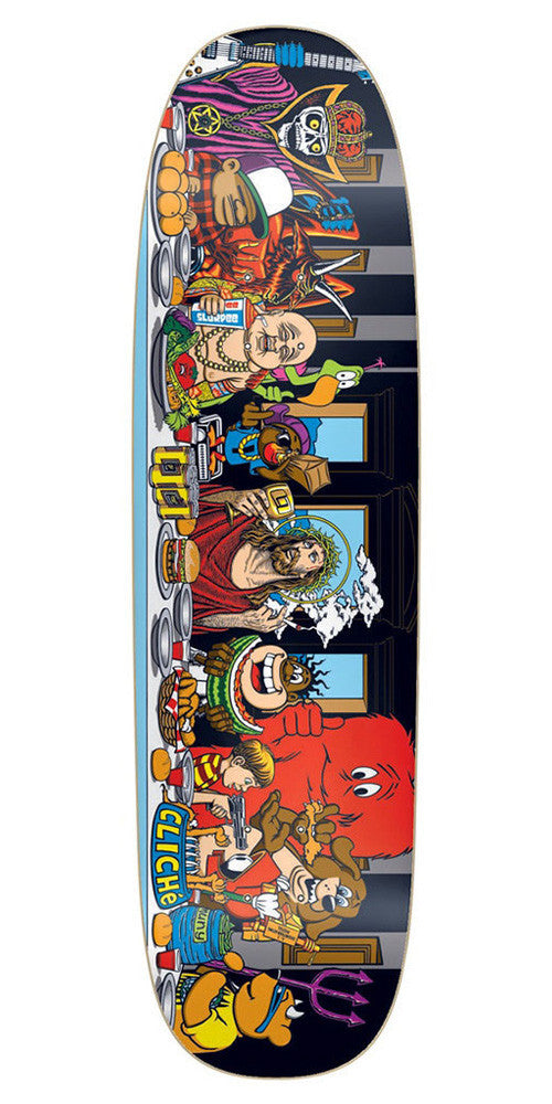 Cliche Last Supper Directional Skateboard Deck - Multi - 8.75in