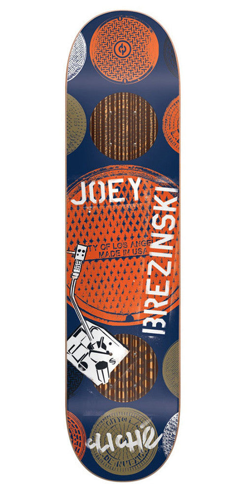 Cliche Joey Brezinski City Grate Stencil Impact Plus Skateboard Deck - Blue - 8.0in